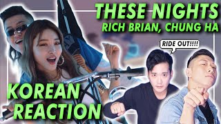 KOREAN Rappers react to RICH BRIAN CHUNG HA THESE NIGHTS