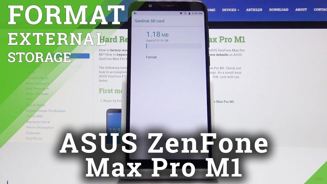How to Format SD Card in ASUS ZenFone Max Pro M1 – Repair Memory Card