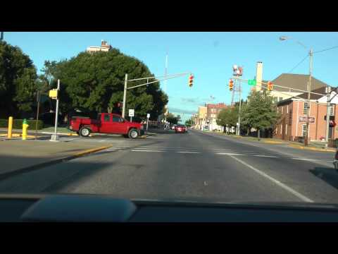 driving in Terre Haute, Indiana on August 14, 2013 (from I-70 to Rick's Smokehouse BBQ)