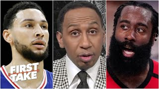 Stephen A. reacts to reports of James Harden wanting to join the 76ers | First Take