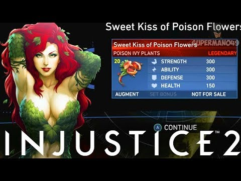 "I Got The Poison Ivy LEGENDARY GEAR! - Injustice 2 ""Poison Ivy"" Legendary Gear Gameplay"