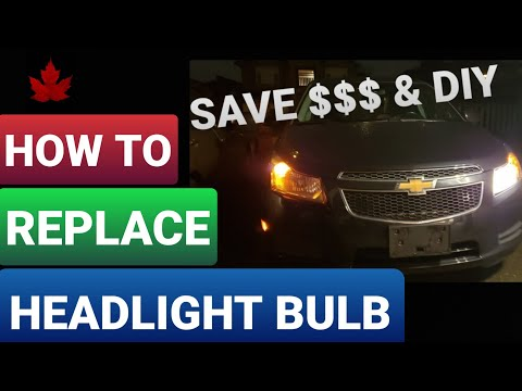 How To Replace A Headlight Bulb On A Chevy Cruze - Tips & Tricks - Save Money & Do It Yourself