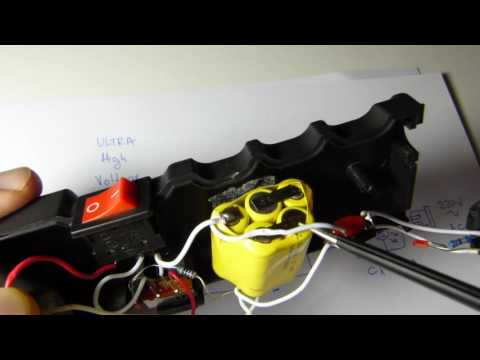 9 Million Volts Stun Gun schematic diagram - YouTube