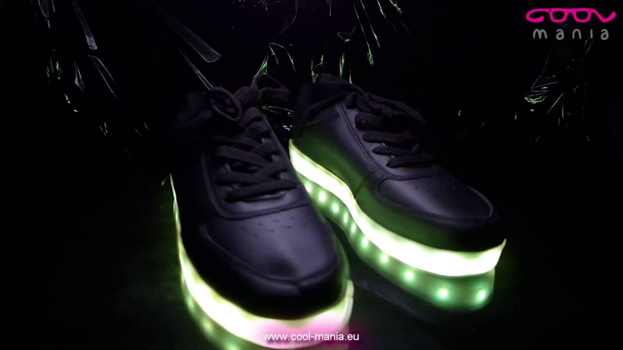 Svítící boty - LED černé (www.cool-mania.cz) - YouTube fbb8fed1e8