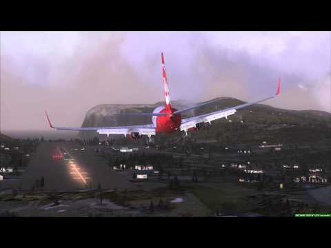 Near Crash Landing Vagar Faroe Islands