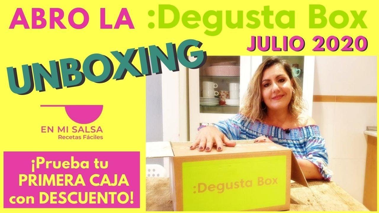🎁 UNBOXING DEGUSTABOX JULIO 2020 ⭐ APERITIVO 🍸 ¡APROVECHA este DESCUENTO PARA PROBARLA! 😉
