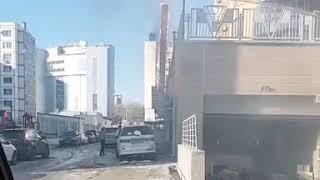 """Горит кафе """"Восточные сладости в Хабаровске 19.11.2018"""