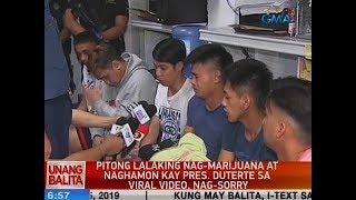 UB: 7 lalaking nag-marijuana at naghamon kay Pres. Duterte sa viral video, nag-sorry