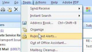 Microsoft Outlook 2007 - Organizing your Inbox