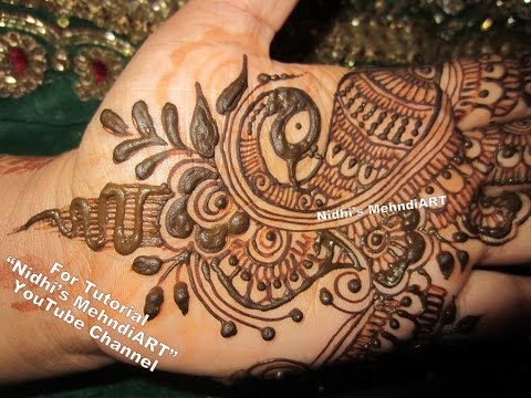 Mehndi Peacock Tattoos : Artistic peacock arabic henna mehndi design art creation tutorial