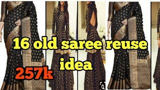 16 old saree reuse ideas/amazing transformation of old saree/recycle old saree