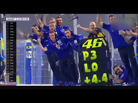 MOTOGP Qatar 2017 Best moment Vinales and Rossi