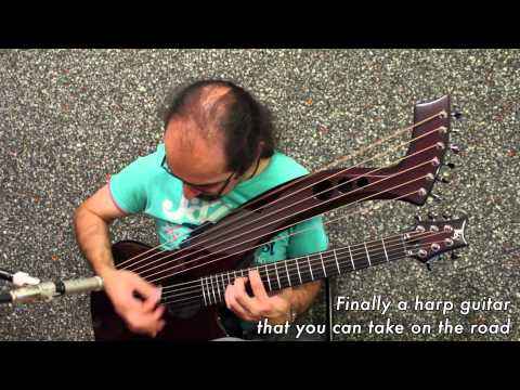 Synergy - the first Carbon Fiber Harp Guitar HX7 by Emerald Guitars