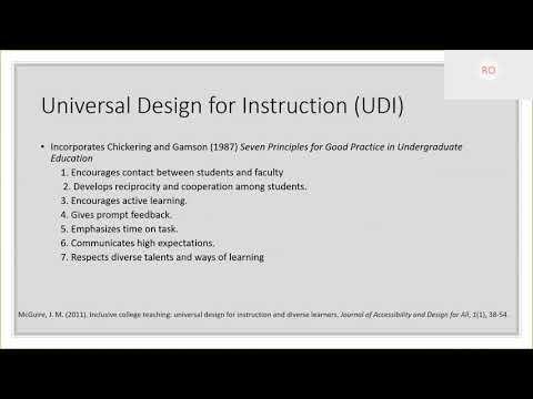UNCG Online Learning & Innovation Webinar: Universal Design for Learning (UDL)