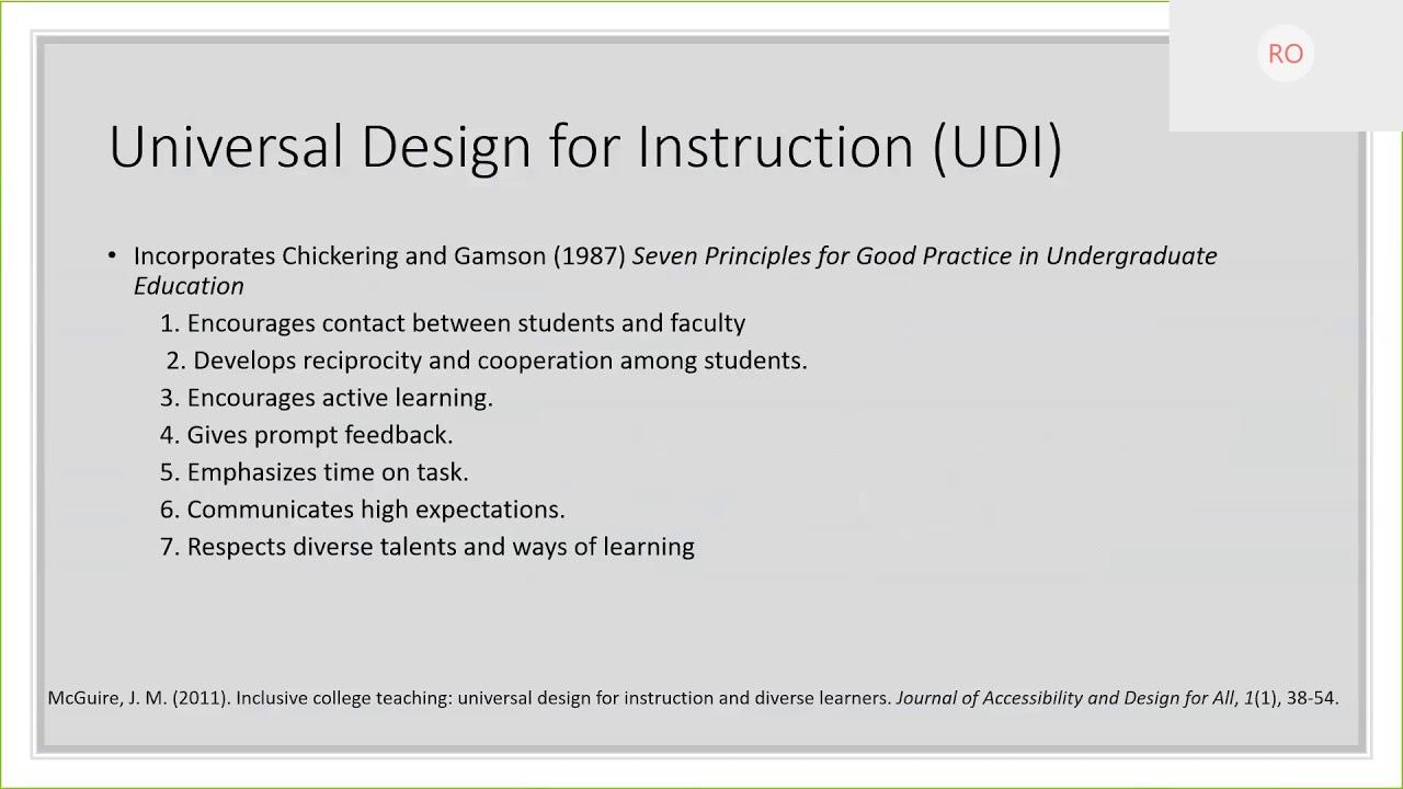 Uncg Online Learning Innovation Webinar Universal Design For Learning Udl Youtube