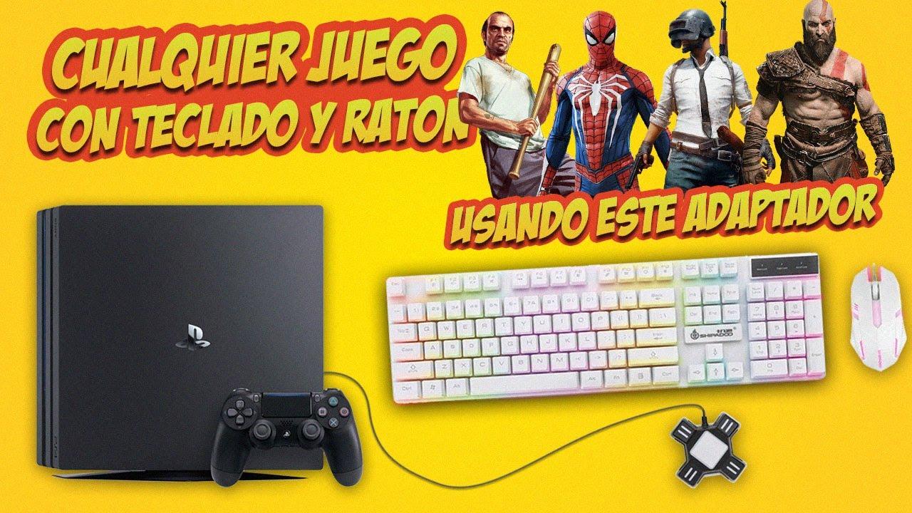 CÓMO JUGAR con Teclado y Ratón CUALQUIER JUEGO en PS4, Xbox One y Nintendo Switch [Adaptador KX]