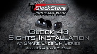 "Installing sights on a Glock 43, featuring Snake Eyes ""SP."""