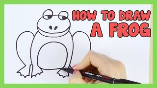 How to Draw a Frog for Kids Simple step by step instruction (+printable)