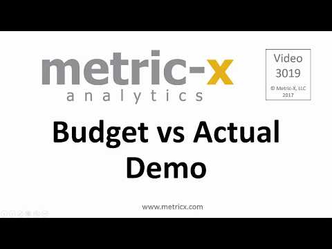 Budget vs Actual With Drill Down | Metric-X