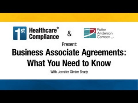 Business Associate Agreements under HIPAA  What You Need to Know