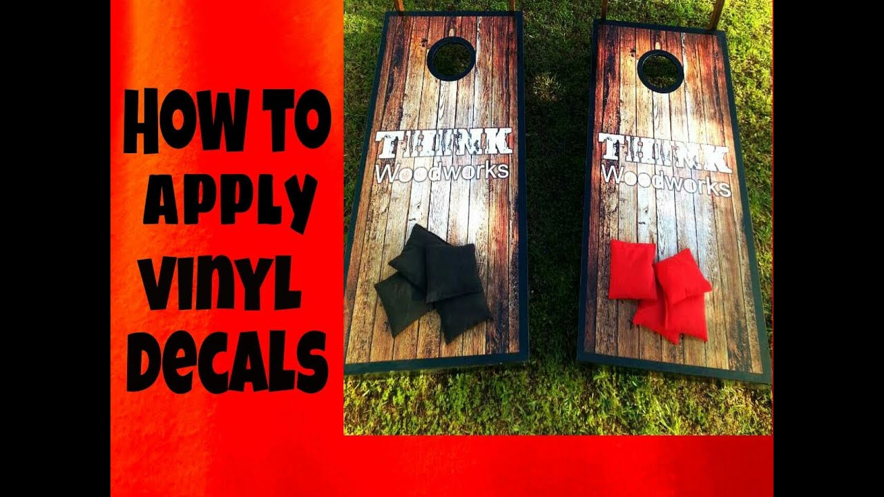 Corn Hole How To Apply Graphics YouTube