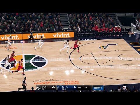 NBA LIVE 19 Preseason - Toronto Raptors vs Utah Jazz - Full Game - PS4 PRO - HD