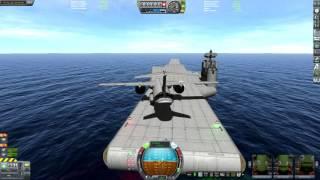 KSP STOL Cargo Plane Carrier Landing