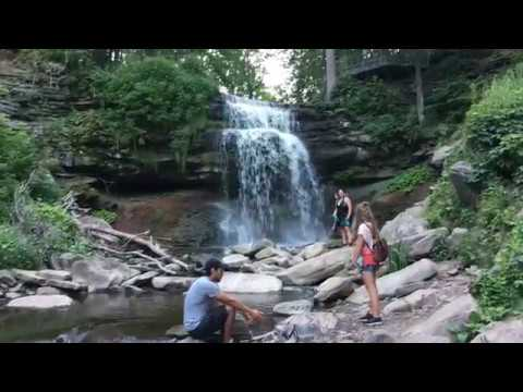 Smokey Hollow Waterfall   Waterdown Ontario Canada - Overview - Hamilton  waterfalls