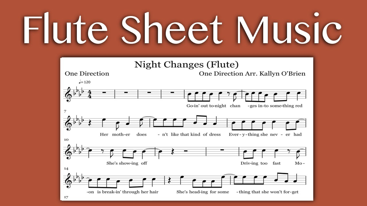 Night changes one direction flute sheet music youtube night changes one direction flute sheet music hexwebz Images
