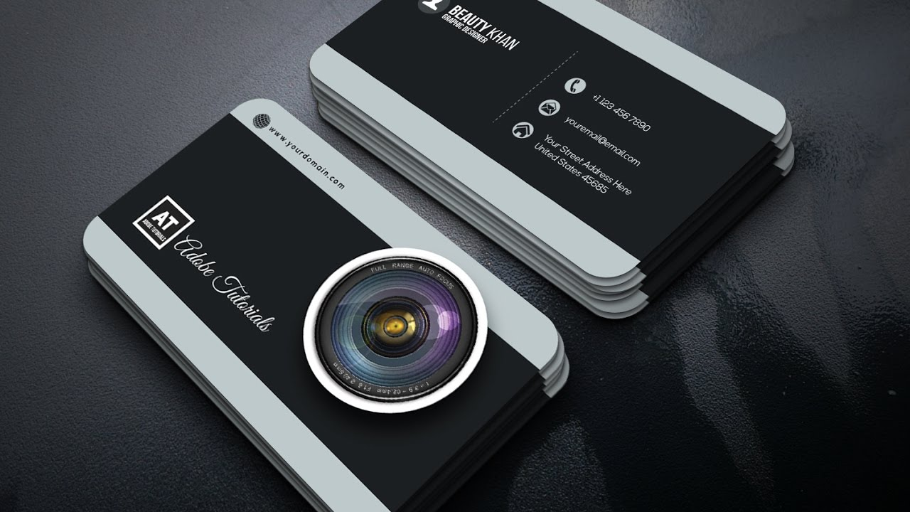 Camera business card demirediffusion photography business card adobe illustrator tutorial youtube flashek