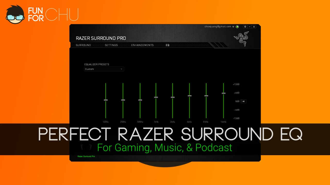 Old Software Perfect Razer Surround Eq Setting Youtube