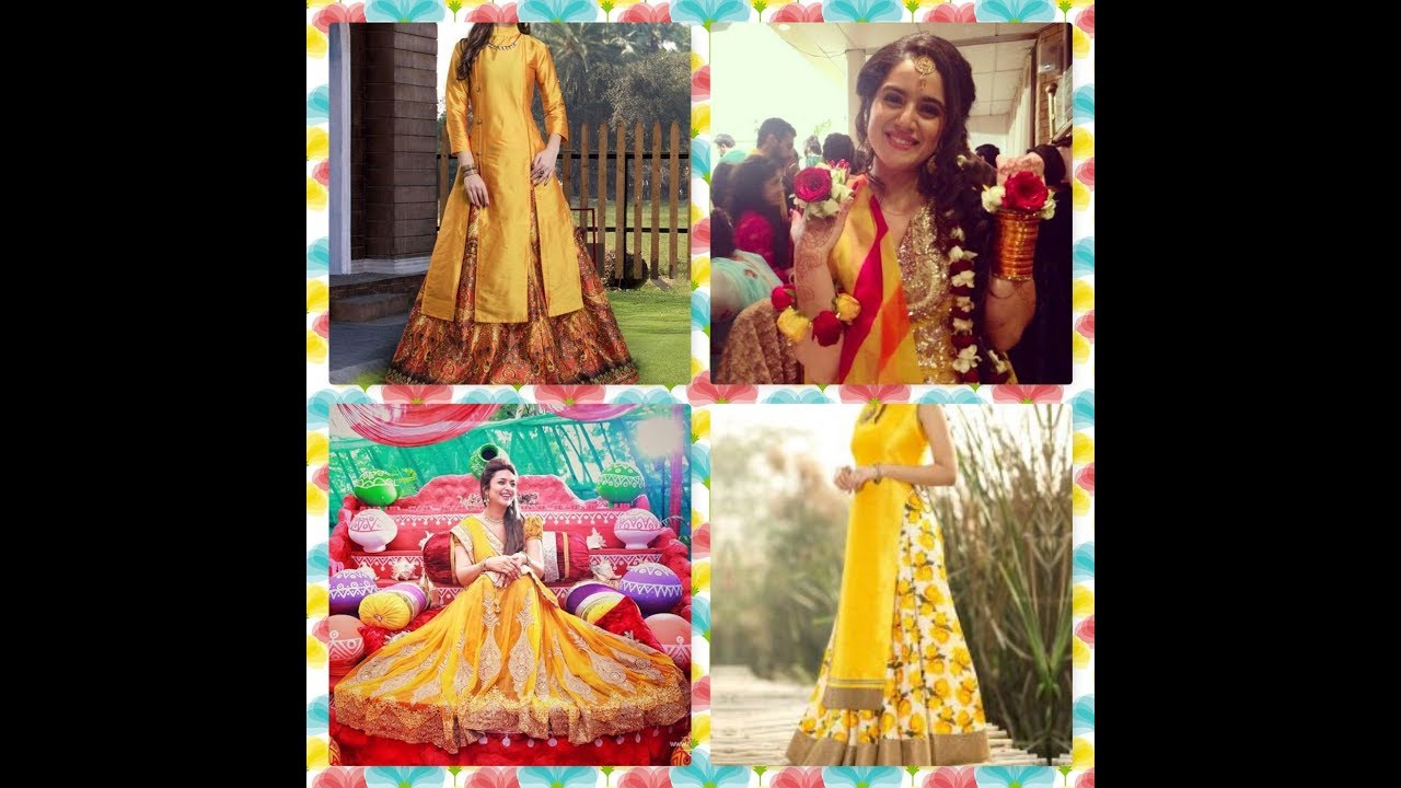 Clothes For Mehndi Ceremony : Haldi special dresses for bridal:haldi rasam youtube