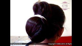 Download Video ILHW Santu's Sensual Bun Drop Of Her Huge Stick Bun & Traditional Hair Bun Making With Rubber Band MP3 3GP MP4