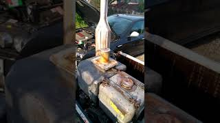 Odpalanie esioka Andoria S15  esiok ciagnik sam S231 1HC102