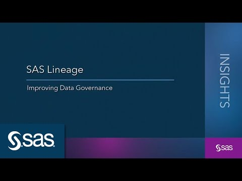 SAS Lineage: Improving Data Governance