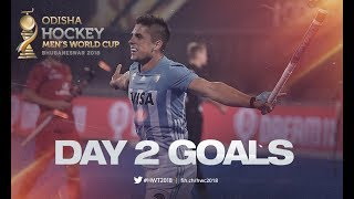 ALL THE GOALS From Day 2! | Odisha Men's Hockey World Cup Bhubaneswar 2018