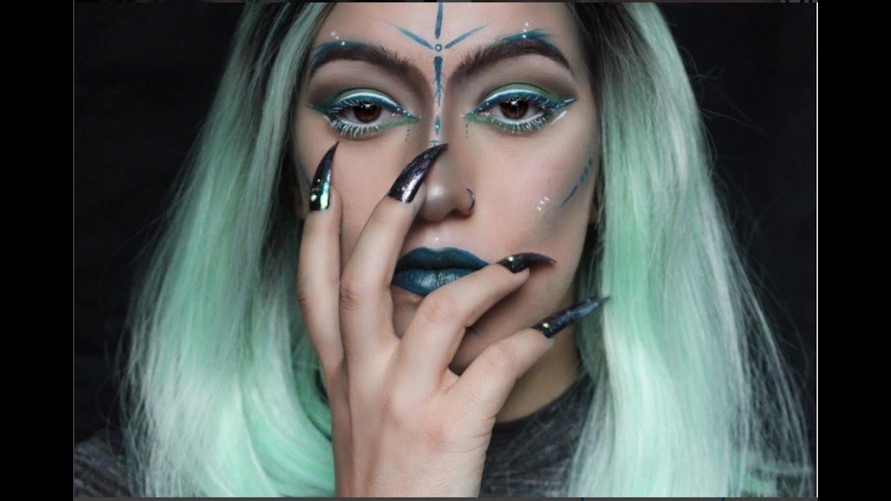 Mother Nature | Halloween Makeup Tutorial - YouTube