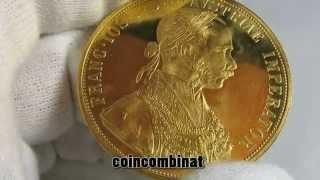 Large Gold Ducat Austria 4 Dukat Österreich