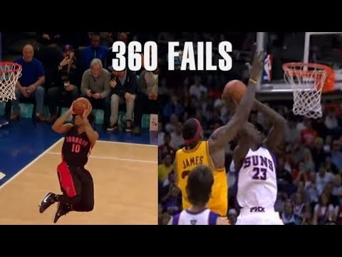 """NBA Crazy """"MISSED"""" 360 Dunks"""