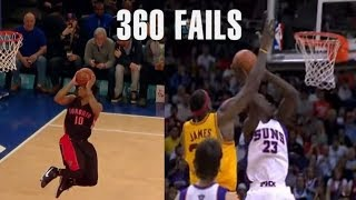 "NBA Crazy ""MISSED"" 360 Dunks"