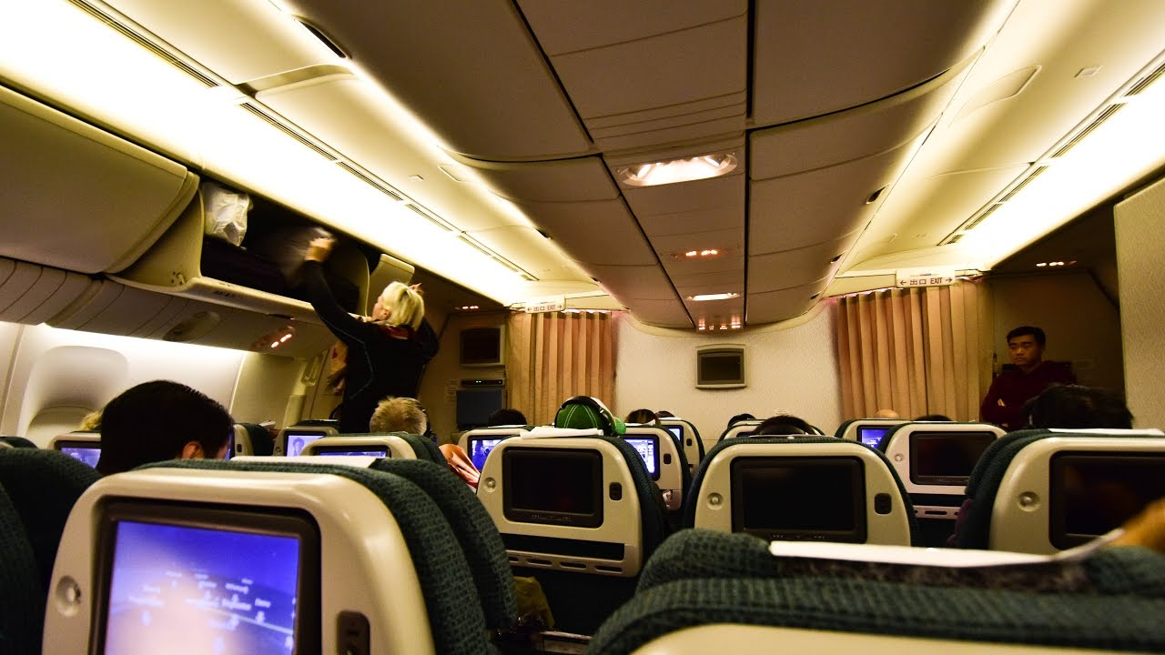 Premium Economy Cathay Pacific Cx890 Hong Kong To New
