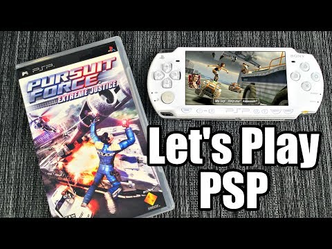 Let's Play PURSUIT FORCE Extreme Justice on PSP w/ Reggie