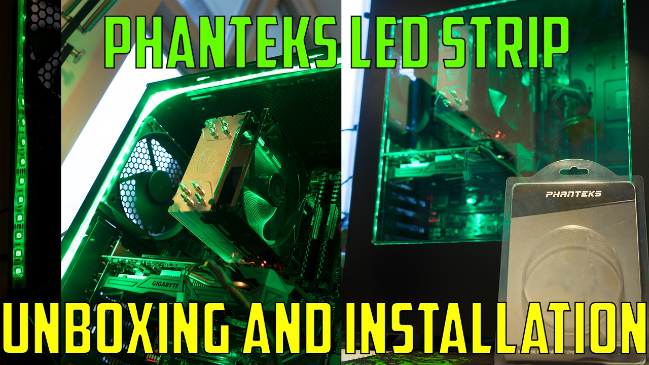 How To Install Phanteks LED Strip In P400S