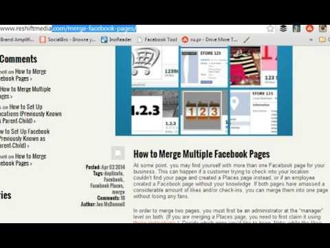 How To Merge Multiple Facebook Pages Youtube