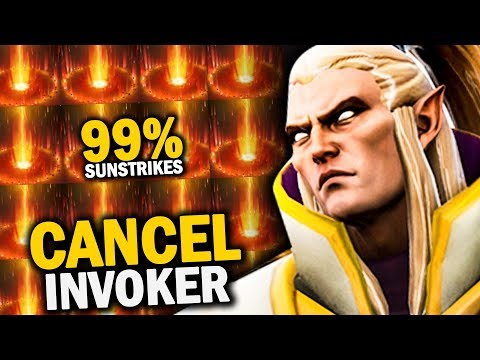 CANCEL^^ INVOKER IS BACK!! EPIC 99% SUNSTRIKES ACCURACY vs STORM SPIRIT MID | Dota 2 Invoker |