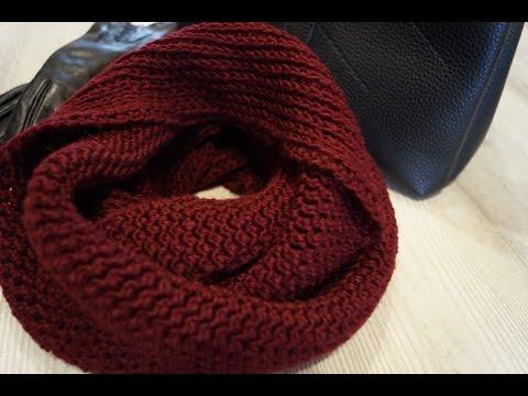 Как связать круглый шарф крючком
