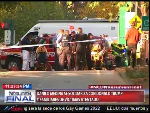 Danilo Medina se solidariza con Donald Trump y familiares de víctimas de atentado