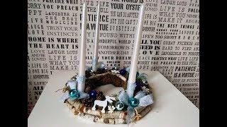 DIY  Wianek Adwentowy   ,Advent Wreath