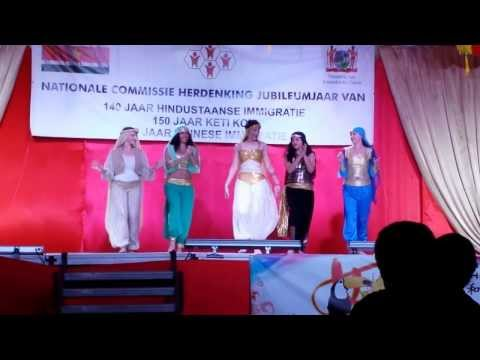 China - Suriname celebrating 160 Chinese Immigration in Su. Lebanese and Indonesian dance.