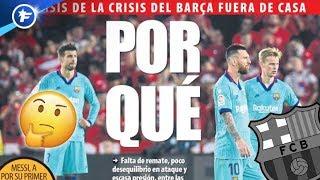 Les raisons de la crise au FC Barcelone | Revue de presse